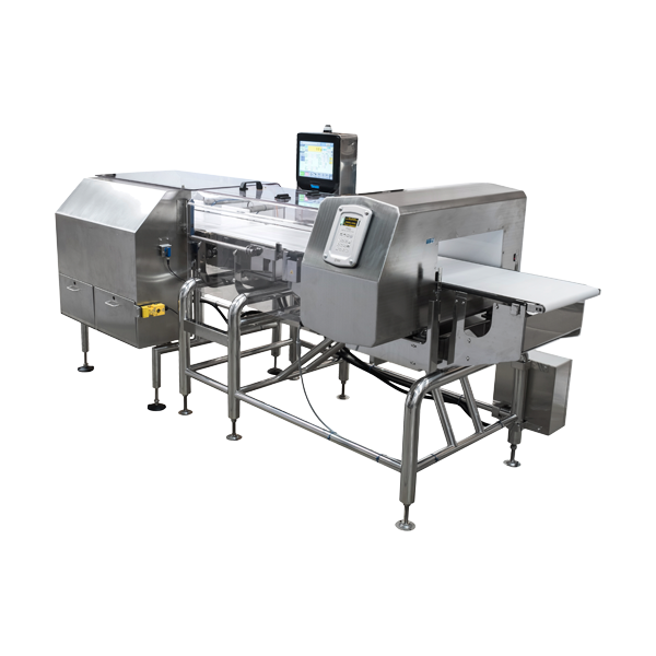 Full size checkweigher metal detector combination systems
